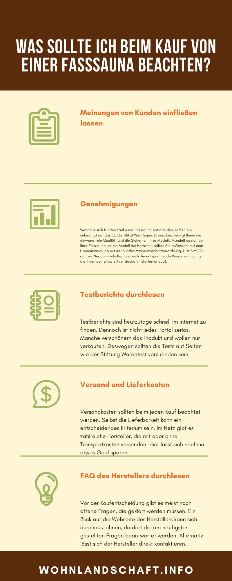 fasssauna kaufberatung infografik